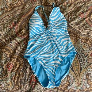 Bleu by Rod Beattie Halter Swimsuit
